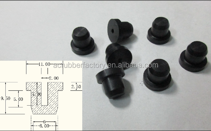 Viton Rubber Stopper/rubber Furniture Stopper/medical Rubber Stopper