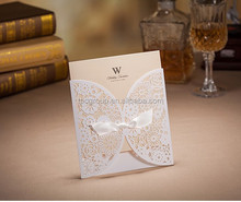 muslim wedding invitation card with white lace design