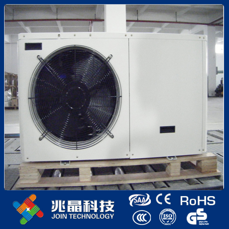 Air to water Tianium exchanger heat pump water heater for swimming pool used