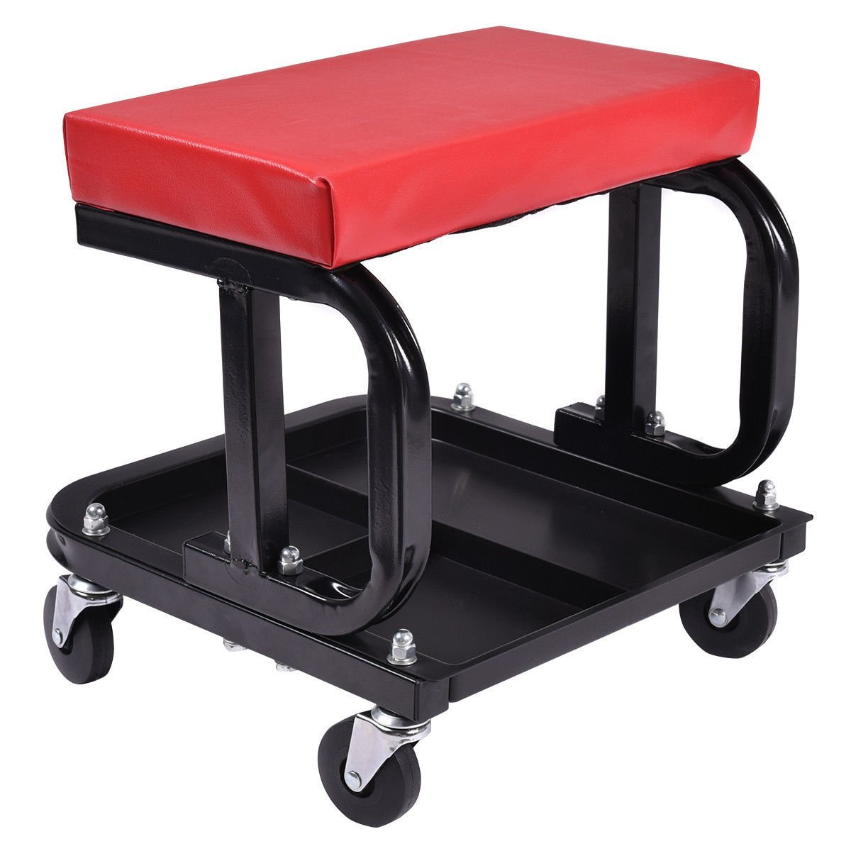 Get Quotations Rolling Creeper Seat Mechanic Stool Chair Repair Tools Tray Shop Auto Car Garage
