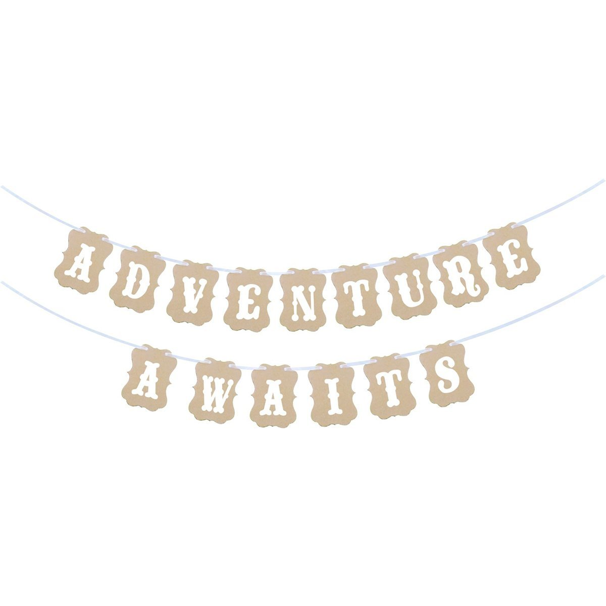 4415291e1828 Get Quotations · Anroll Adventure Awaits Banner for Baby Shower Party