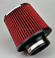 3'' Inch performance high flow air intake universal conical filter red