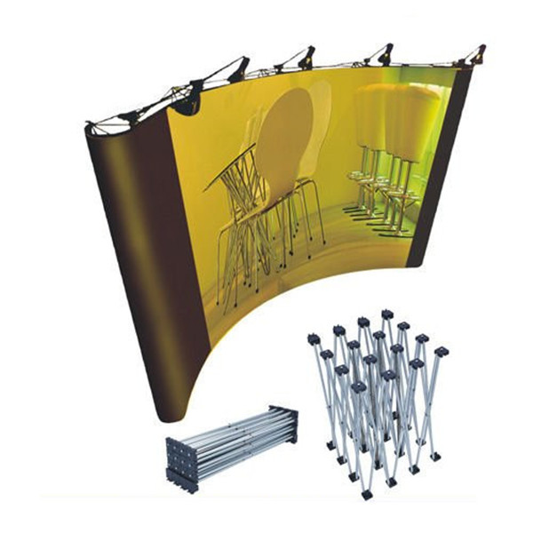 Custom trade show advertising magnetic pop up display stand