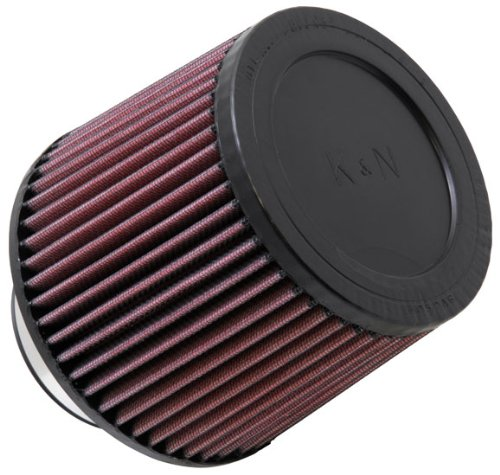 K&N RU-3570 Universal Clamp-On Air Filter: Round Tapered; 3 in (76 mm) Flange ID; 5 in (127 mm) Height; 6 in (152 mm) Base; 5.125 in (130 mm) Top