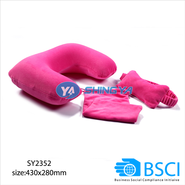 hot sale BSCI inflatable PVC pillow beach bag
