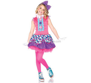 Halloween Party Adults Clown Cosplay Clothes Carnival Pink Clown Costumes for Girls
