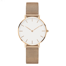 Rose Gold Silber <span class=keywords><strong>Frauen</strong></span> <span class=keywords><strong>Uhren</strong></span> Luxus Quarzuhr Edelstahl Mesh Damen <span class=keywords><strong>Uhren</strong></span> 32mm