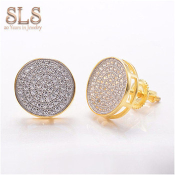 Quality Guaranteed Newest Model 14k Gold Piercing Earrings Moissanite Stud Supportive Earring Backs