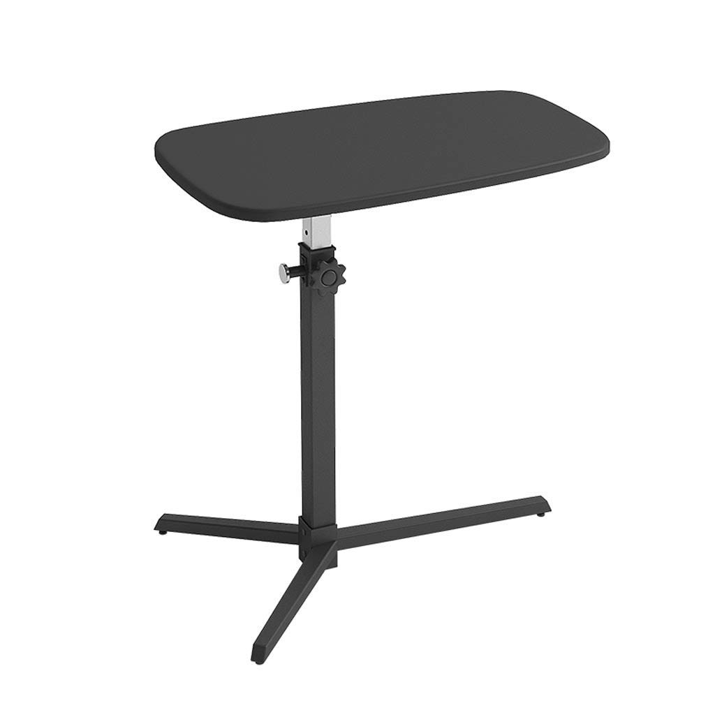 GAOYANG Laptop Table, Bedside Table, It Can Move A Small Desk in The Lazy Bed, Portable Lift The Sofa Side Table, Home Office Lecture Standing Table, Black (Size: 71-101CM) (Color : Black)