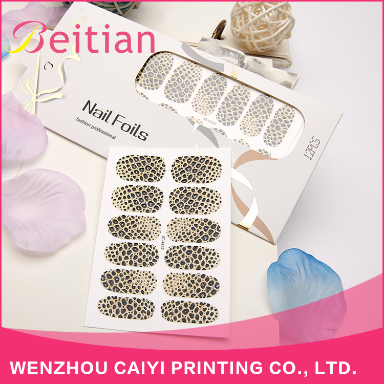 Beitian Profession Design Wholesale Price Stone Pattern Animal Texture Nail Stickers