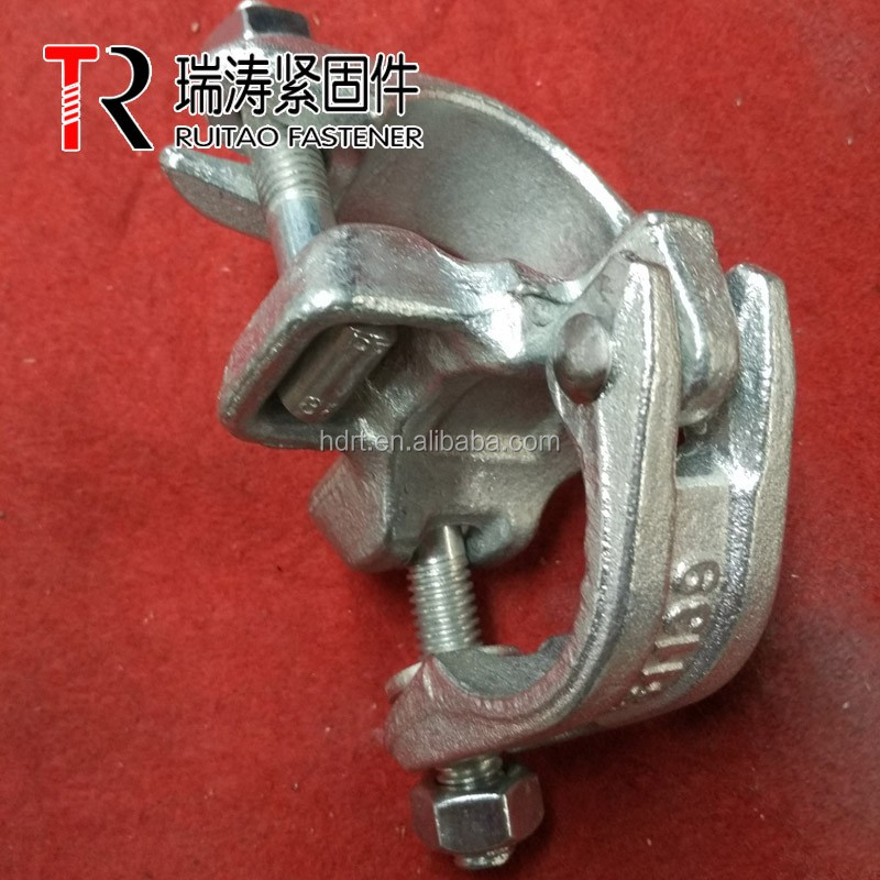 British scaffolding drop forged 48.3mm EN74 /BS1139 double coupler