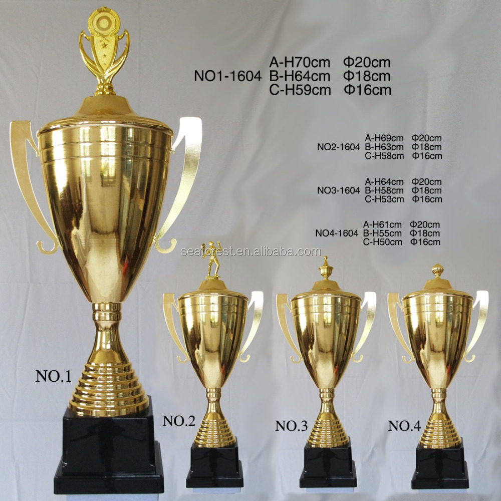 Big Gold Metal Champion League Awards Trophy Cup For 2018 World