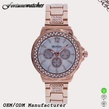Best Products Lady Watch Pure Gold Wrist Watch with Diamond Cheap Price