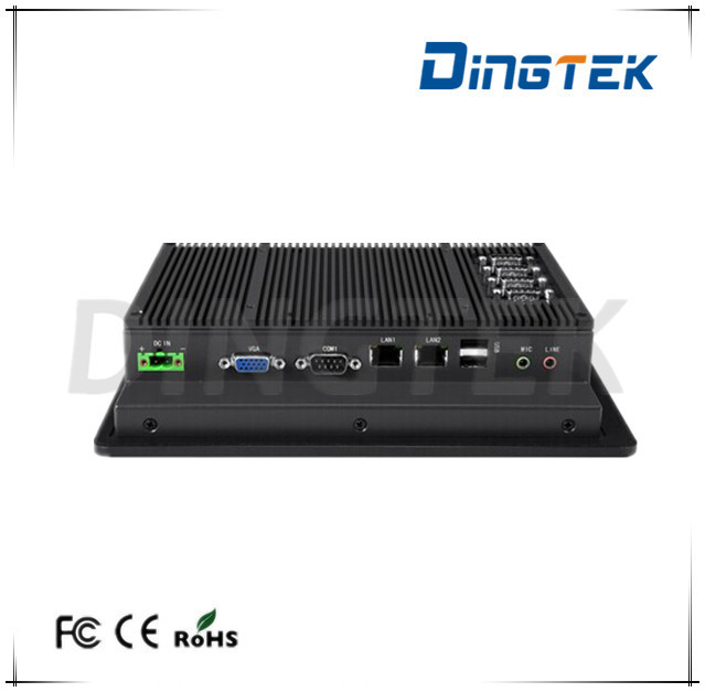 P080S Atom N2800 4GB RAM 1.6Hz fanless embedded system all in one industrial panel pc panel mount