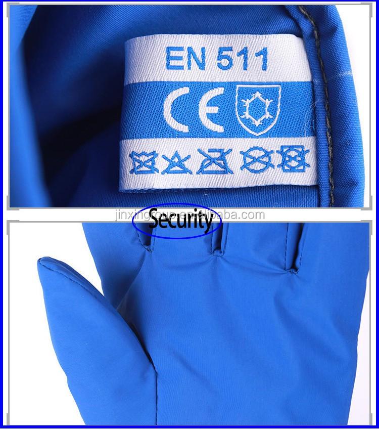 Ce Certificates 38cm Length Liquid Nitrogen Cryo Gloves