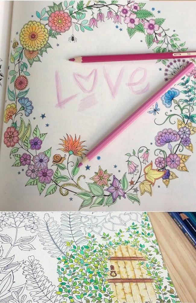 Toptan 96 Sayfa Secret Garden çizim Kitabı çocuklar Hediye çocuklar