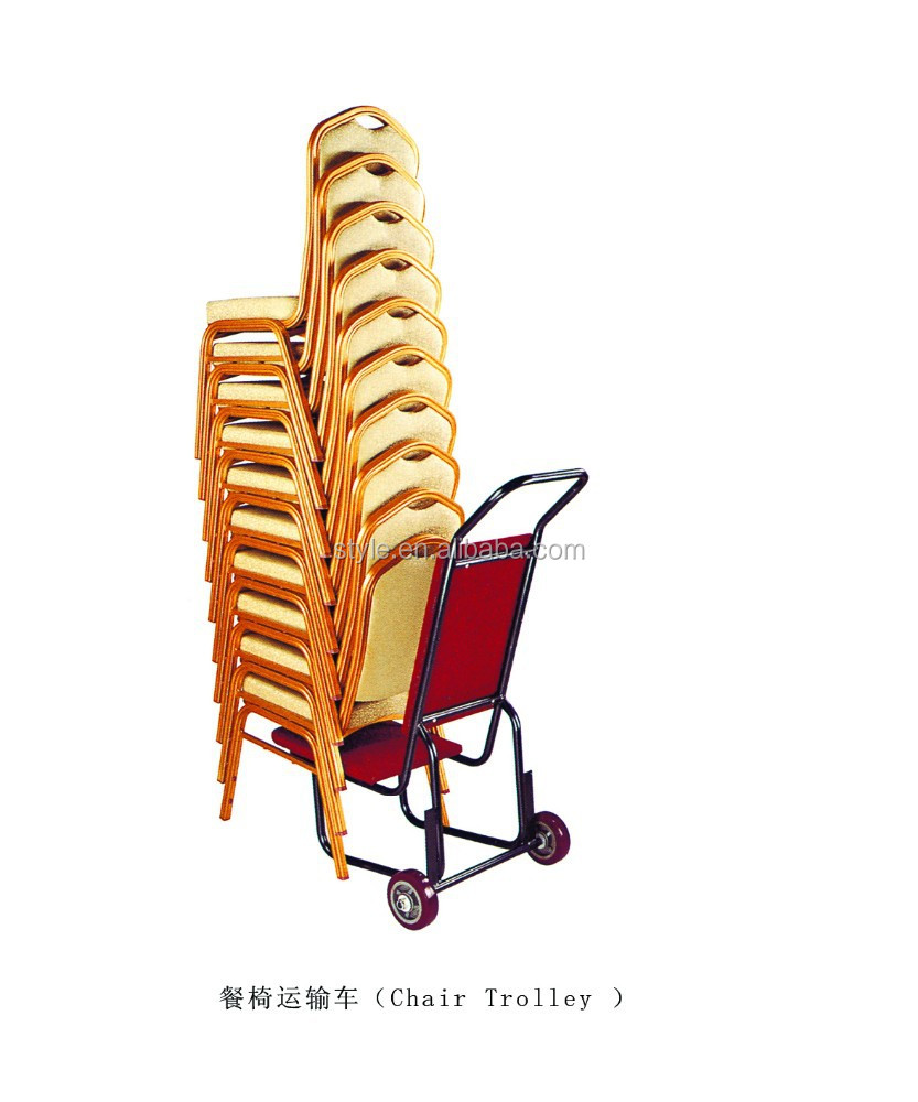 Wholesale hotel banquet chair trolley