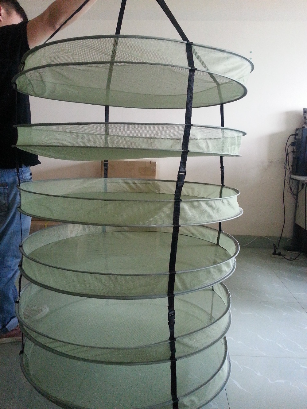 4 6 Tiers Mesh Grow Tent Hanging Drying Rack Fo Buds And