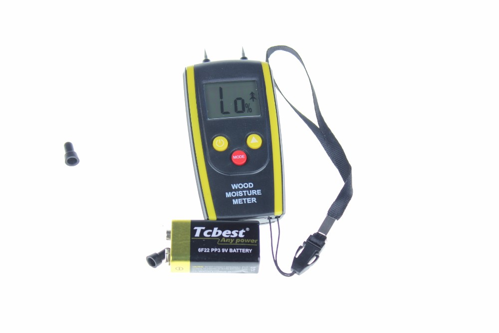 LCD Digital Display Moisture Meter Humidity Tester for Garden Plants, Building Materials, Wood, Wall Water Measuring