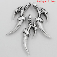 Charm Pendants Two Machete Fit Jewellry Making Antique Silver 3.7x1.4cm,20PCs,Customize