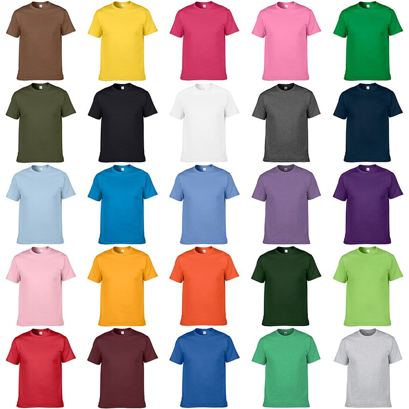 2018 men custom t shirt plain t shirt wholesale oem blank for One color t shirt