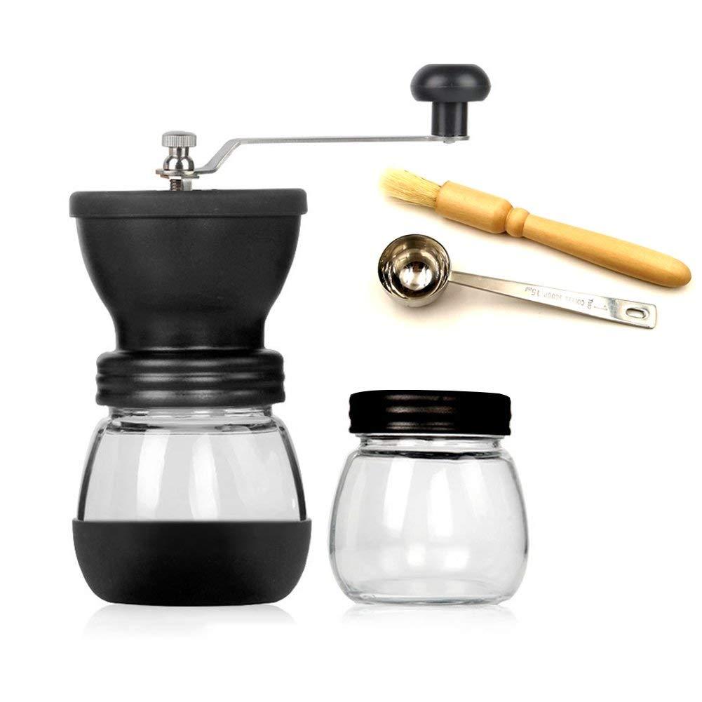 Get Quotations Manual Coffee Grinder With Storage Jar 350ml 12oz Mill Ceramic Burrs