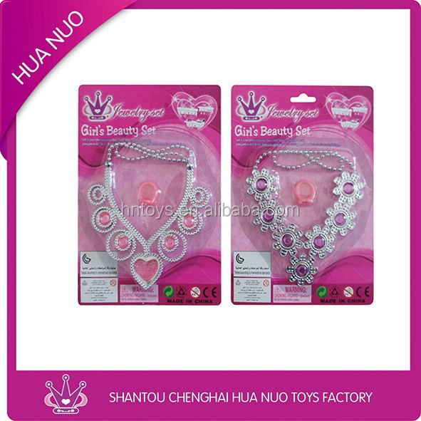 Best sell girls promotion play toy beauty set with necklace & ring