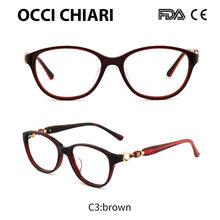 OCCI CHIARI 2018, Ретро стиль, Винтажный дизайн, женские ацетатные очки для близорукости, оправа для глаз, прозрачные линзы, женские очки, очки, W-CARLON(Китай)