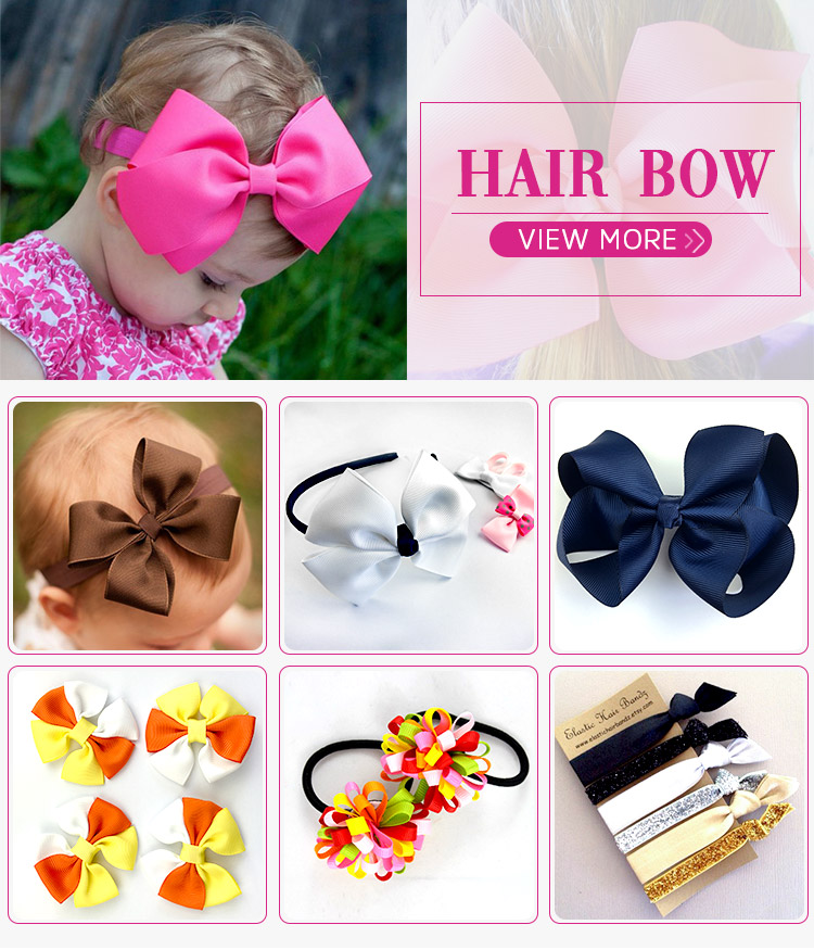 Classic children photography prop headwear fancy flower hair hoop baby girls pure-color chiffon flower hair band