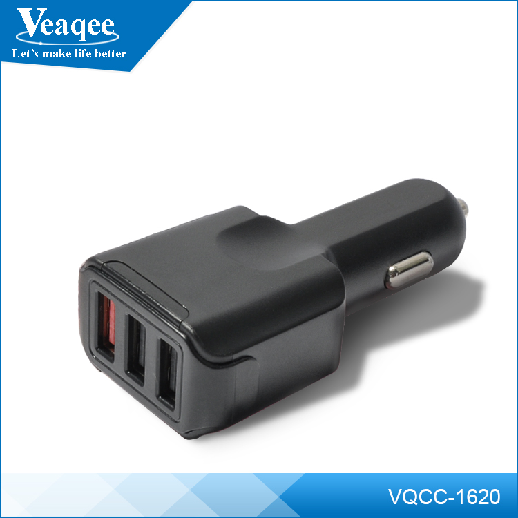 Veaqee Universal 3 port usb car charger,phone charger mobile for car