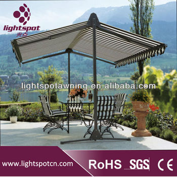 Hot Sale Aluminium Hanging Umbrella Canopy Used Aluminum Awnings For Awning Support