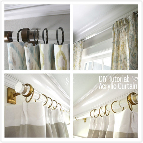 Hot Sale Clear Acrylic Curtain Rod Plexiglass Round Plastic