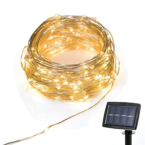 22M 200Led Solar Powered Copper String Fairy Light For Party Holiday Decoration