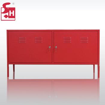 Hoge Glossy Tv Stand,Staal Tv Kast,Metalen Tv Opslag Locker Voor ...