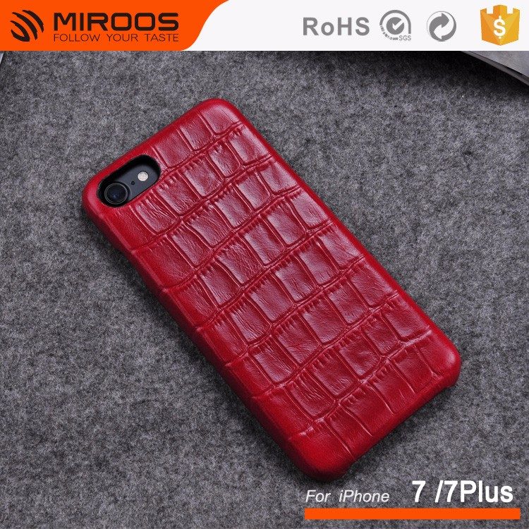 Crocodile Pattern Genuine Real Leather Cell Phone Back Cover Case For iPhone / For Samsung
