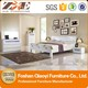 high gloss white bedroom furniture set with LED light