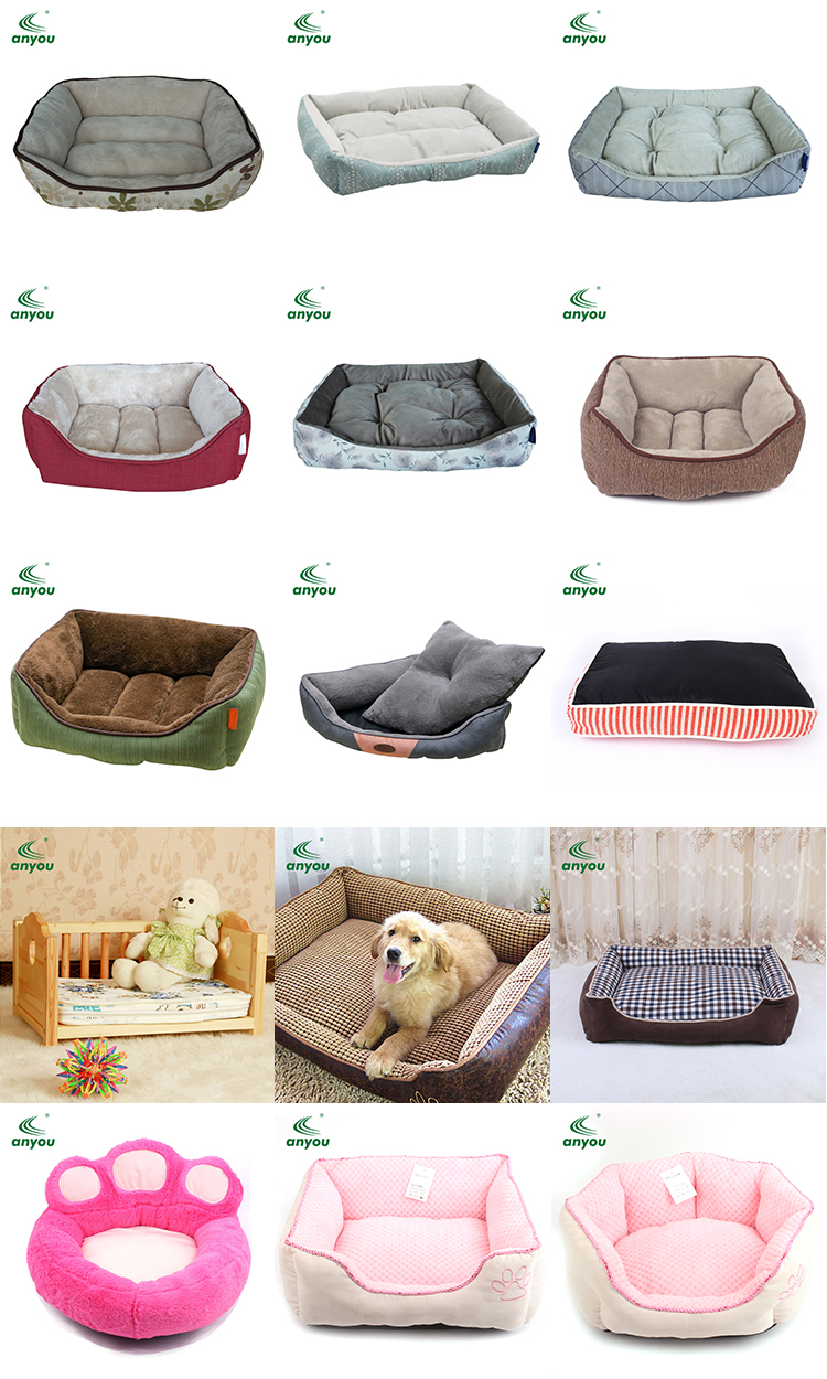 Factory directly sell non slip memory foam pet dog mattress