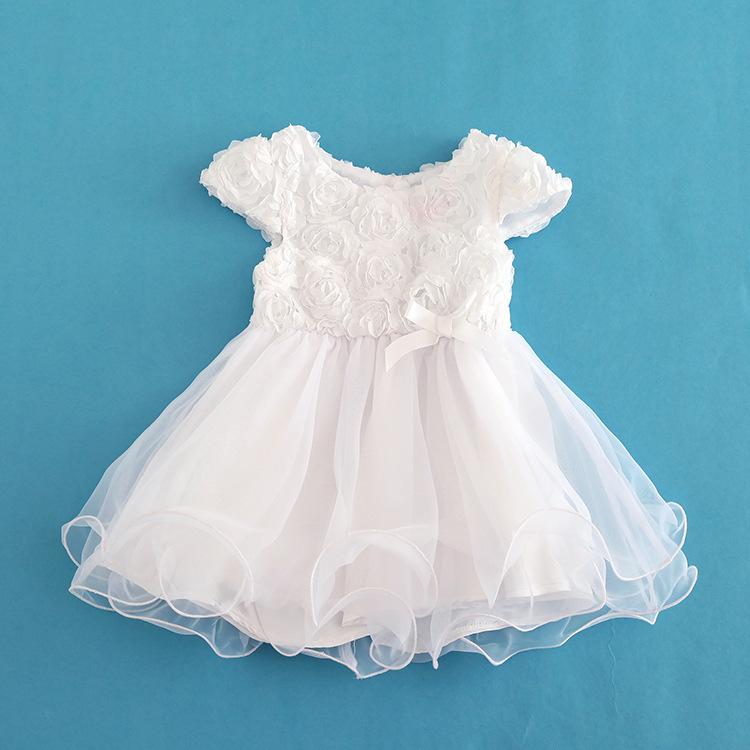 2016 5 Layer Baby Girl font b Dress b font White Floral Princess Short font b