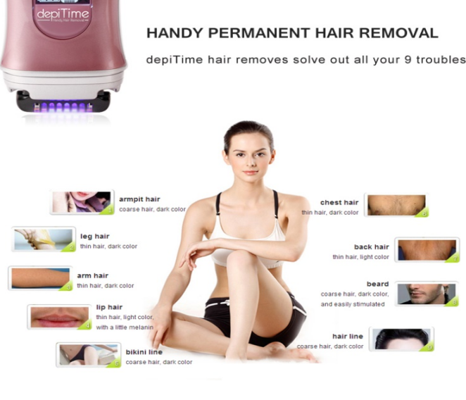 Lady shaver depiTime painless hair remover hair removal epilator electric threading remover for women