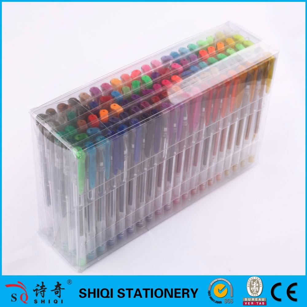 Ensemble de stylo de gel couleur de meilleur vendeur emballage 100/60/48/24