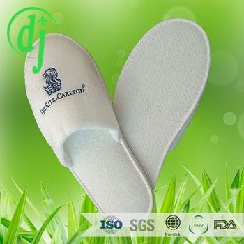 62458c1d8fd05 Adjustable big terry fluffy disposable mens open toe slippers  hotel slipper  with logo customized