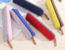 Two colors easy design felt stationery pen bag