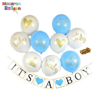 1st Birthday ITS A BOY Paper Banner Blue Pink Happy Party Decoration Kids Baby Boy