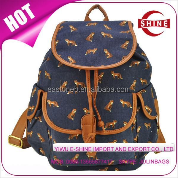 china supplier Fabric backpack teanage school bag printing Outdoor custom backpack manufacturer