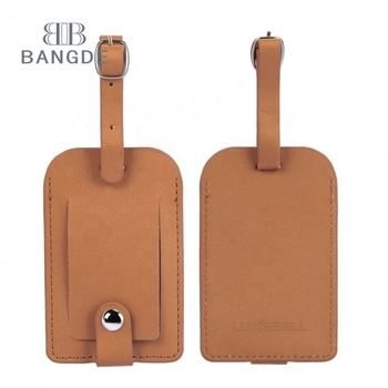 High Quality Soft and Durable PU Leather Luggage Tag