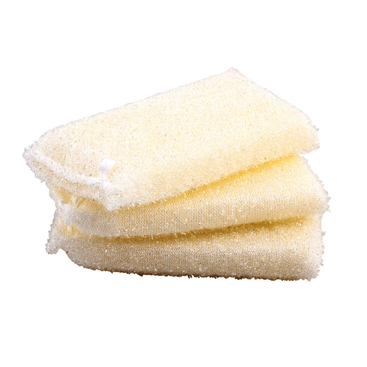 Weißer heller Seidentuch Mesh Net Kitchen Cleaning Sponge Scourer