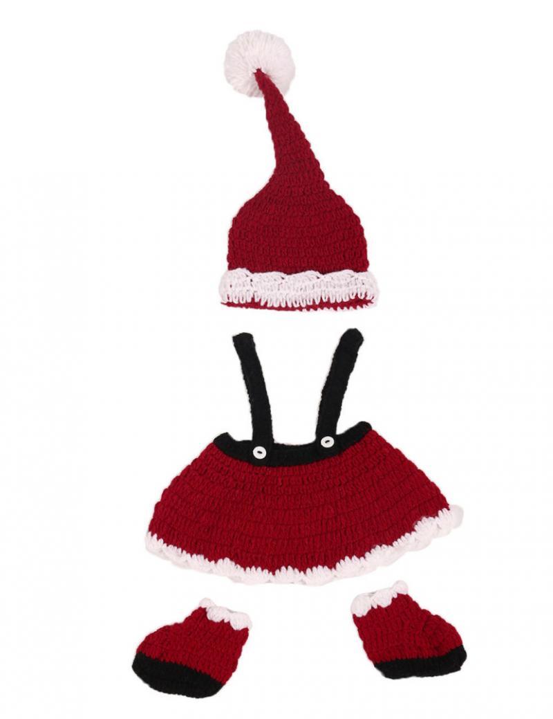 Новорожденный гриль рождество костюм крючком наряды фотография фотография реквизит новый