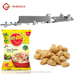screw extruder textured soya protein / soy meat / soya nuggets forming machine
