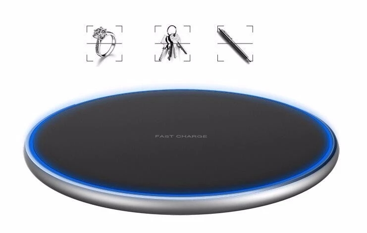 Wireless Charger Qi Certified 7.5W 10W Fast Wireless Charging Stand Compatible for iPhone for Samsung
