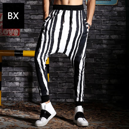 2017 Casual Fashionable Hip Hop Joggers Pants Men High Quality Cotton Dance Sweatpants